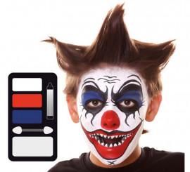 Kit de Maquillaje de Payaso Diabólico