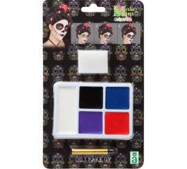 Kit de Maquillage de Squelette Dia de los Muertos