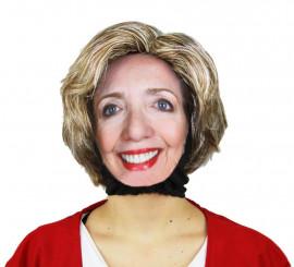 Kit de Peluca y Máscara Hillary Clinton