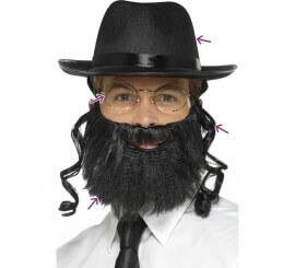 Kit de Rabino: Sombrero con Pelo, Barba y Gafas