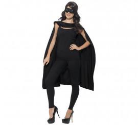 Kit de Superhéroe Negro adulto: Capa y Antifaz