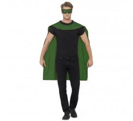 Kit de Superhéroe Verde adulto: Capa y Antifaz