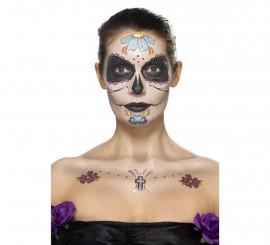 Kit de Tatuajes y Maquillaje del Día de Muertos