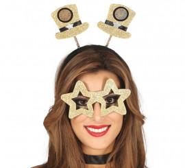 Kit Fin de año: Diadema y Gafas Doradas