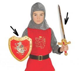 Kit medieval: Escudo y espada para niños