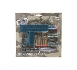 Kit Militar: Pistola, Puñal, Binoculares, Balas, Dardo y Reloj