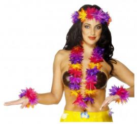 Kit Hawaï multicolore pour femme