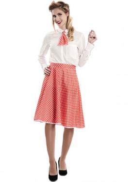 Kit Pin-Up Rojo para mujer: Falda y Corbata