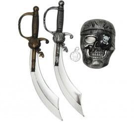 Kit Pirata: 2 Espadas, Máscara y Pendiente