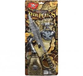 Kit Pirata: Pendiente, Parche, Espada y Garfio