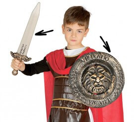 Kit de Romano infantil: Escudo y espada