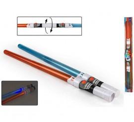 Lanza o sable doble láser con luz y sonido de 90cm