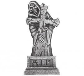 Lápida con Cruz y fantasma 61 cm