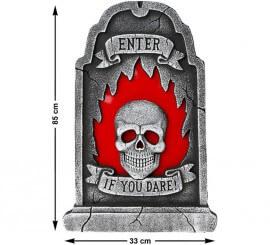 Lápida con Luz Enter if you dare 85X33 cm