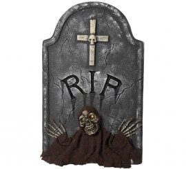 Lápida Rip con Leds 66 cm
