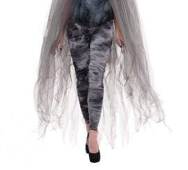 Leggings a jirones de fantasma color gris