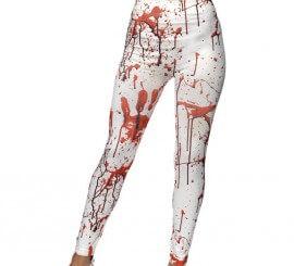 Leggings Blancos con manchas de sangre