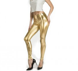 Leggings de color Oro