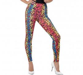 Mallas con estampado Leopardo Multicolor