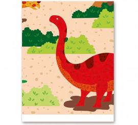 Mantel de Dinosaurios Plegado de 137x182 cm