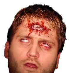 Maquillaje FXs de Disparo en la Cabeza