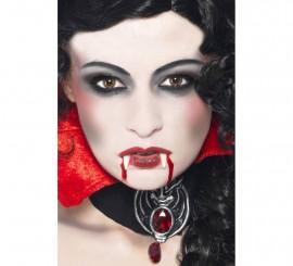 Maquillaje de Vampiro: Colmillos, Esponja, Pintura y Sangre