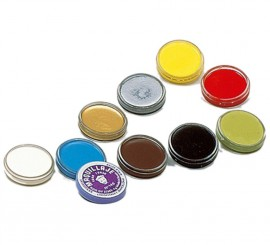 Maquillaje en crema para fondo en color azul de 4 gr.