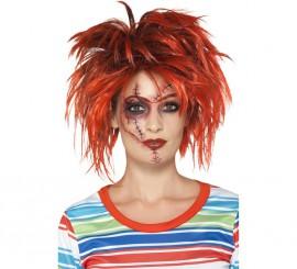 Maquillaje FXs Chucky Heridas cosidas