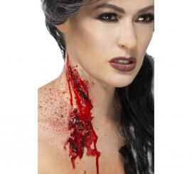 Maquillaje FXs cuello cortado