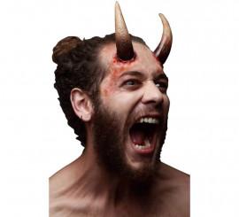 Maquillage FXs Longues Cornes de Démon en Latex