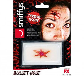 Maquillaje FXs de herida de bala
