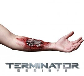 Maquillaje FXs de Herida en el brazo de Terminator