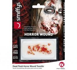 Maquillaje FXs de herida zombi