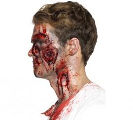 Maquillaje FXs Heridas sangrientas con adhesivo