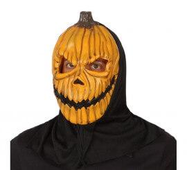 Masque de Citrouille en PVC avec cagoule pour Halloween