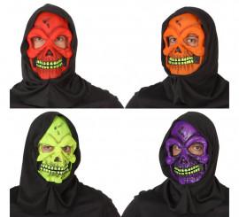 Masque Squelette avec cagoule 4 coloris disponible pour Halloween