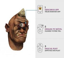 Máscara con animación Cíclope errante