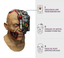 Máscara con animación Cyborg Scanning