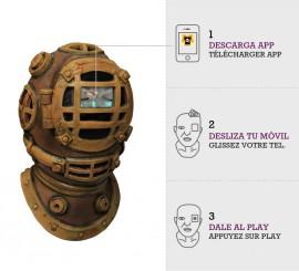 Masque de Plongeur Scaphandre avec effet animation DIGITAL DUDZ