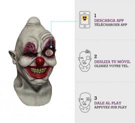 Máscara con animación Payaso Crazy Eye