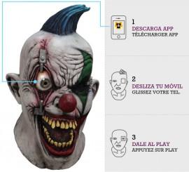 Máscara con animación Payaso Ojo Remachado