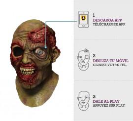 Máscara con animación Zombie Crazy Eye
