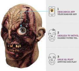 Máscara con animación Zombie Ojo Frenético