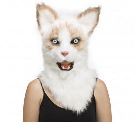 Máscara con Mandíbula Móvil de Gato