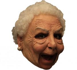 Masque Vieille Dame Nanny Deluxe en Latex Halloween