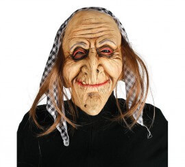 Máscara de Bruja con pelo y pañuelo