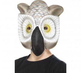 Máscara de Búho gris y blanco para niños