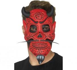 Máscara de Calavera de Demonio para adultos