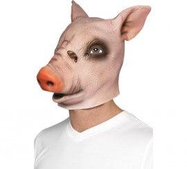 Máscara de Cerdo Rosado de látex