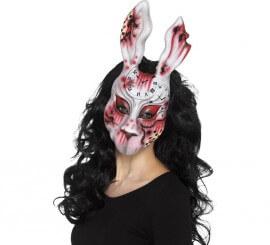 Máscara de Conejo ensangrentado para adultos
